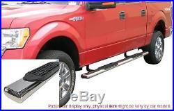 Silverado Sierra 1500/2500 99-14 Crew Cab 4 Oval Side Step Bar Running Board