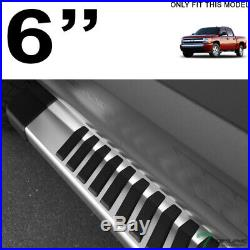 Topline For 07-18 Silverado/Sierra Crew Cab 6 OE Aluminum Running Boards-Silver