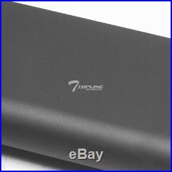 Topline For 07-18 Silverado/Sierra Ext 5 TI Aluminum Running Boards Matte Blk