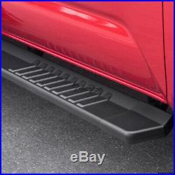 Topline For 07-18 Silverado/Sierra Ext 6 OE Aluminum Running Boards Matte Blk