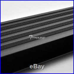 Topline For 07+ Silverado/Sierra Extended I4 Aluminum Running Boards Matte Blk