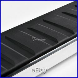 Topline For 2007+ Silverado/Sierra Regular 6 Aluminum Running Boards Silver