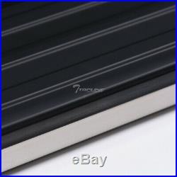 Topline For 2009-2018 Traverse 6 VP Aluminum Rail Running Boards Chrome/Black
