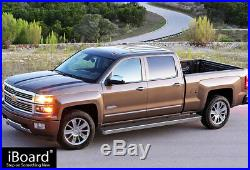 Wheel to Wheel Running Boards 5in Fit 07-18 Silverado Sierra Crew Cab 6.5ft Bed