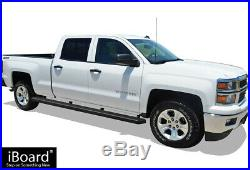 Wheel to Wheel Running Boards 5in Fit 07-18 Silverado Sierra Crew Cab 6.5ft Bed